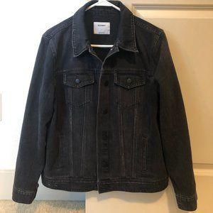 Old Navy Distressed Black Jean Jacket, Women